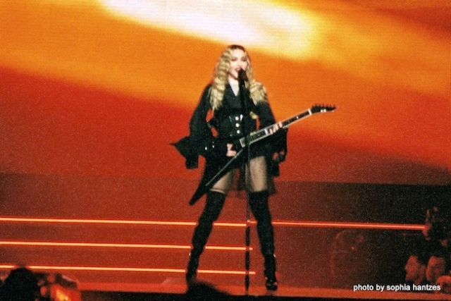 Madonna in St. Paul during the October 8th performance of her Rebel Heart Tour. Photo by Sophia Hantzes