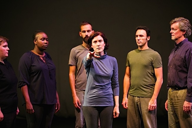 L-R: Allison Witham, Joy Dolo, Alex Hathaway, Heather Bunch, Derek Lee Miller, Eric Marinus. Photo by Lauren B Photography.