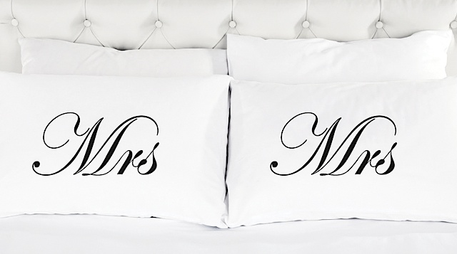 Nell Mrs and Mrs PIllowcases