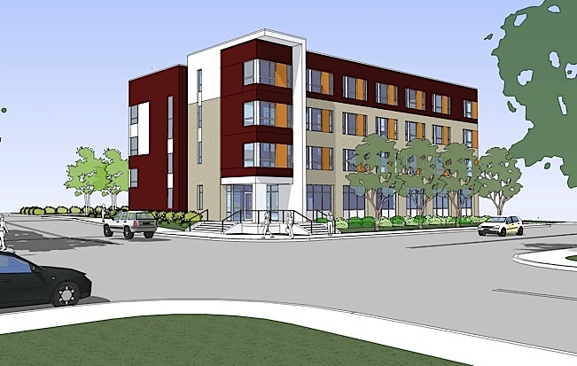 A rendering of Clare Terrace, set to open on World AIDS Day, December 1, in Robbinsdale, MN. Terrace will provide affordable, supportive housing for 6 people affected by HIV/AIDS. Photo courtesy of Clare Housing.