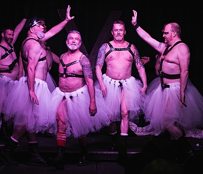 "Members of the Atons of Minneapolis perform a very butch version of ""The Waltz of the Flowers."" Photo by Everett Allen Photography."