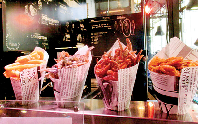 Deep fried seafood at upscale San Miguel market. Photo by Carla Waldemar
