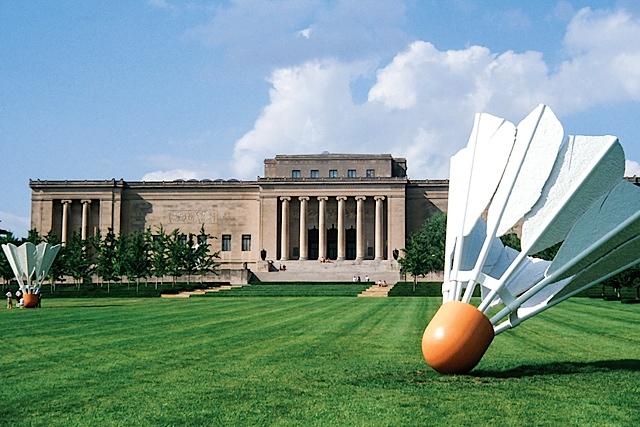 Badminton, anyone? We can play a couples tournament at the Nelson-Atkins. Photo courtesy of Visit KC