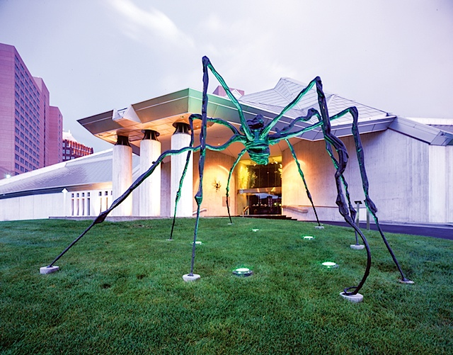 "The ""Spider"" at the entrance of the Kemper. Photo courtesy of Visit KC"