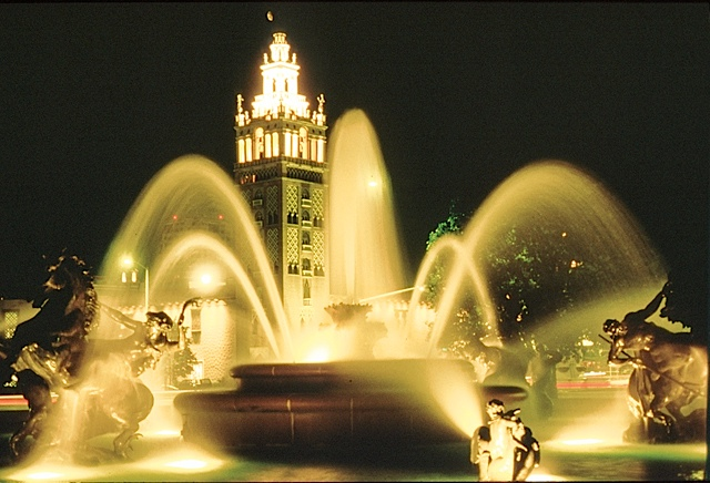 The Plaza in the evening, perfect for a stroll hand-in-hand. Photo courtesy of Visit KC