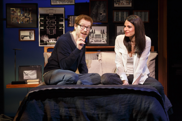 Anthony Rapp and Jackie Burns in If/Then Photo by Joan Marcus