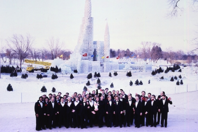 TCGMC at the St. Paul Winter Carnival Ice Castle in 1986.