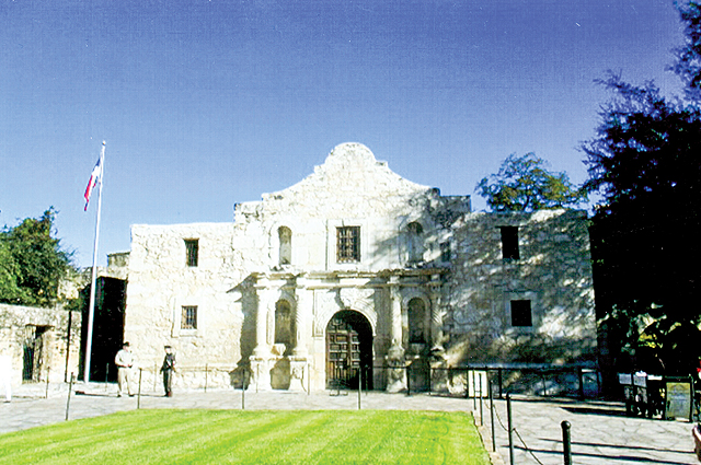 The Alamo, in downtown San Antonio