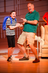 Ricky Falbo as Greg Heffley and Tod Petersen as Dad. Photo by Dan Norman