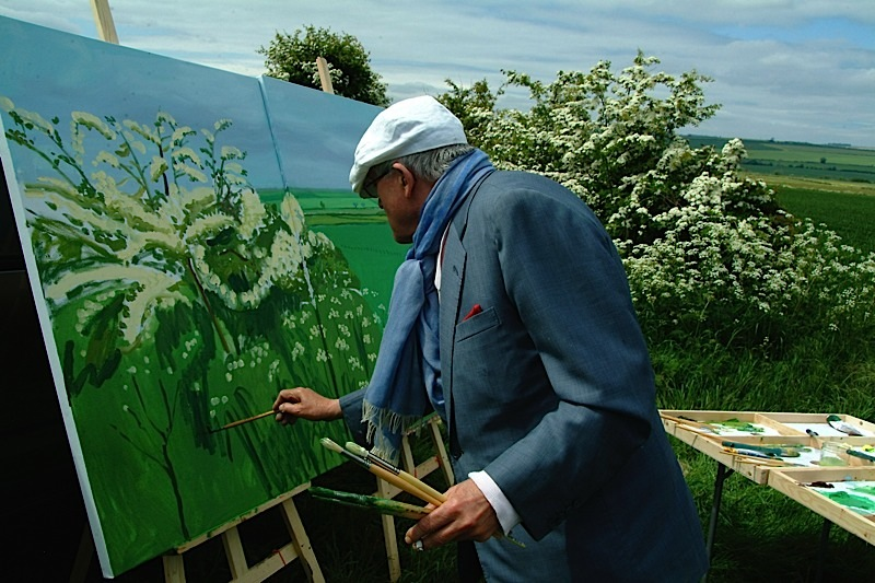 "DAVID HOCKNEY PAINTING ""WOLDGATE BEFORE KILHAM"" 2007 © DAVID HOCKNEY PHOTO CREDIT: JEAN-PIERRE GONCALVES DE LIMA"