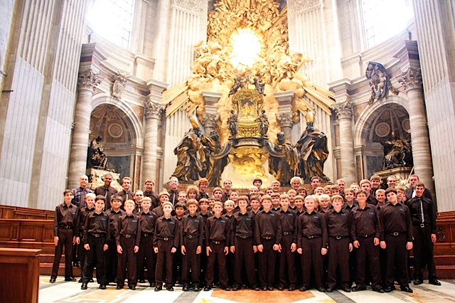Inside St. Peter's Basilica at The Vatican, 2011. Photo courtesy of the Minnesota Boychoir