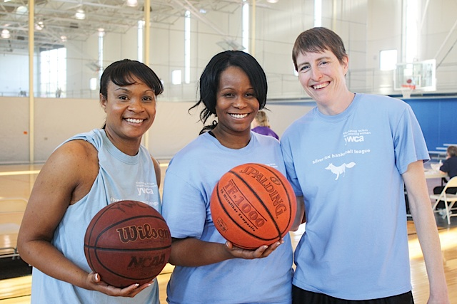 Silver Fox Basketball league. Photo courtesy of YWCA Minneapolis