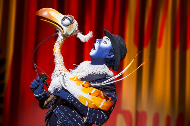 Drew Hirshfield as Zazu. Photo by Matthew Murphy