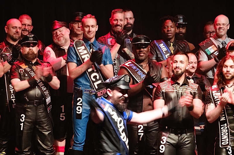 A group of IML 2016 contestants onstage at Friday night's opening ceremonies. Photo by Steve Lenius.