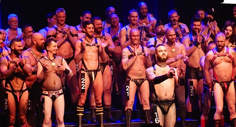 IML 2016 contestants onstage at Saturday night's Pecs & Personality event. Photo by Steve Lenius.