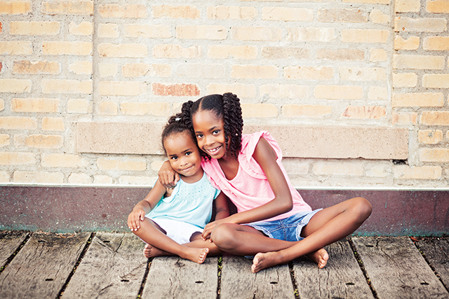 Isabela and Liana have found a loving home through Children's Home and Lutheran Social Service. Photo courtesy of CH/LSS