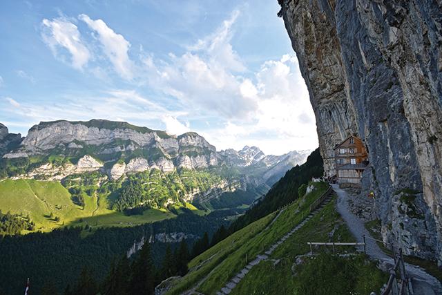 Berggasthaus Aescher-Wildkirchli, Switzerland. Photo by Jared Kamrowski
