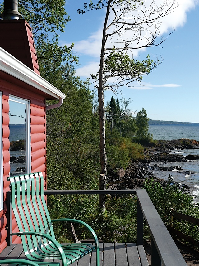 Breezy Point Cabin view