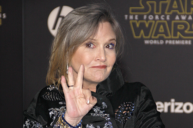 Carrie Fisher. Photo courtesy of Bigstock.com/Starfrenzy