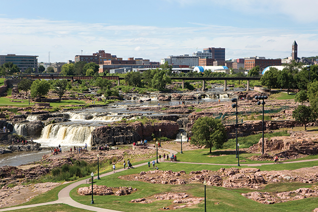 Falls Park, Sioux Falls. Photo by Bigstock/Steven Frame
