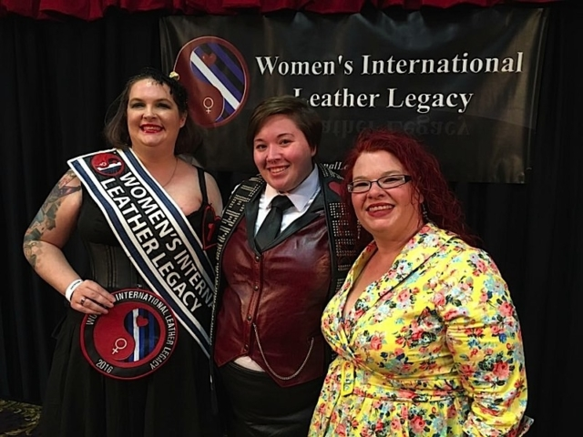 Left to right: Syn Palmer, WILL 2016; Meghan, International Ms Bootblack 2016; and Penelope Jones, WILL 2015. Photo by Janet Ryan.