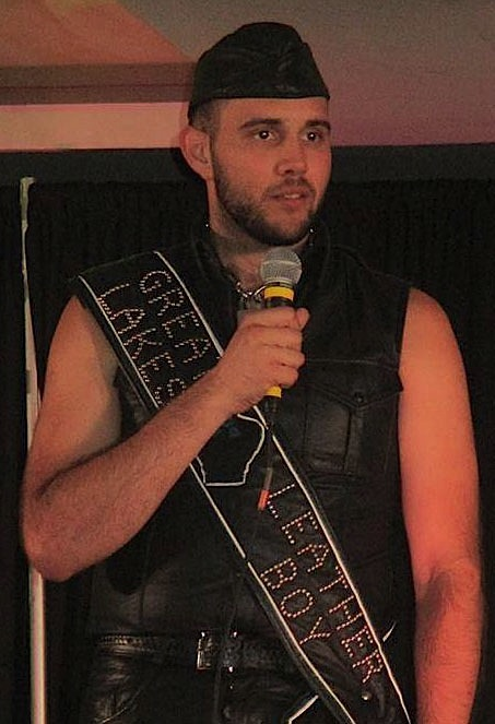 boy Woody, first runner-up for International Leatherboy 2016. Photo by Randy Spearhead