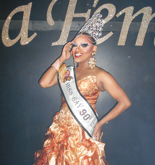 Miss Gay 90's 2016, Mercedes Iman-Diamond. Photo by George Holdgrafer