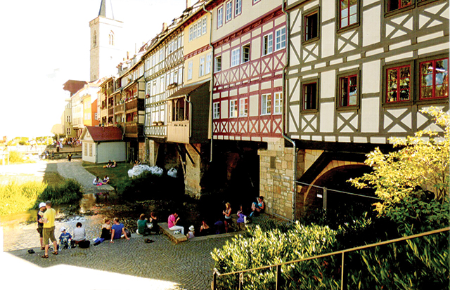 Merchant's Bridge of Erfurt. Photo by Carla Waldemar