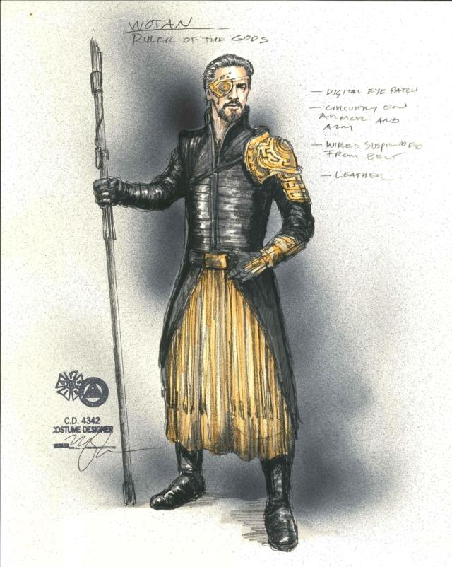 Wotan costume rendering by Mathew LeFebvre