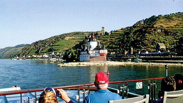 Castles low and high on the Rhine cruise. Photo by Carla Waldemar