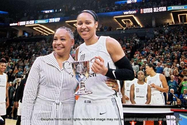 07.28.18 WNBA All Star Game Team Parker 119 Team Delle Donne 112 Minneapolis MN