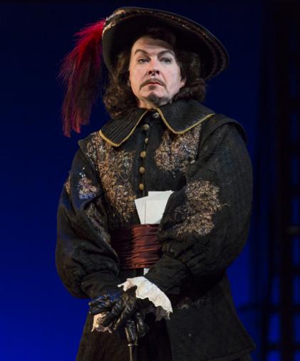 Cameron Folmar as Count de Guiche in Cyrano de Bergerac. Photo courtesy of Guthrie Theater