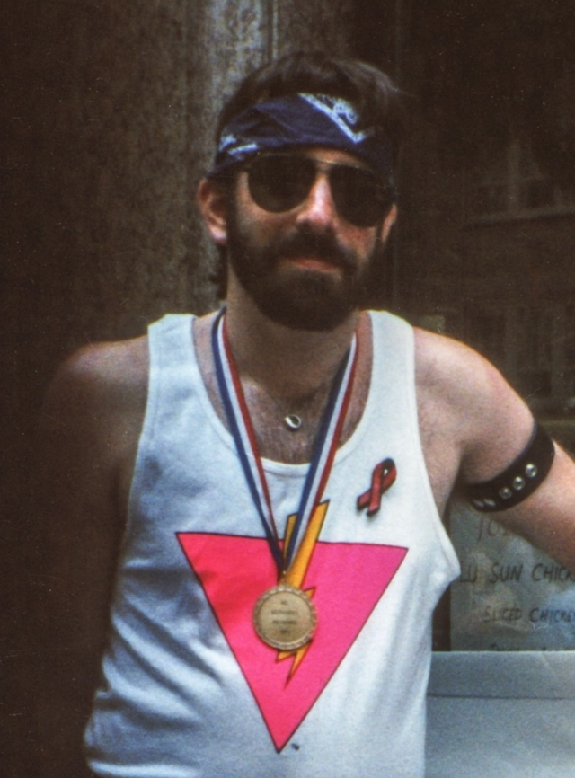 June, 1994: Your humble columnist at the Stonewall 25 March.