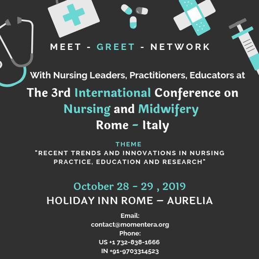 3rd International Conference on Nursing & Midwifery 2019