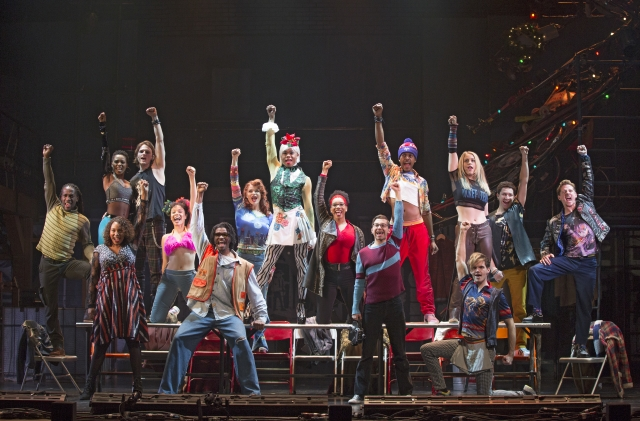 The Company of the RENT 20th Anniversary Tour. Photo by Carol Rosegg, 2018
