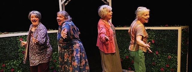 """ST. PAUL, MN SEPTEMBER 3: Frank Theatre's production of Caryl Churchill's play """"Escaped Alone"""" at Gremlin Theatre on September 3, 2019 in St. Paul, Minnesota."""