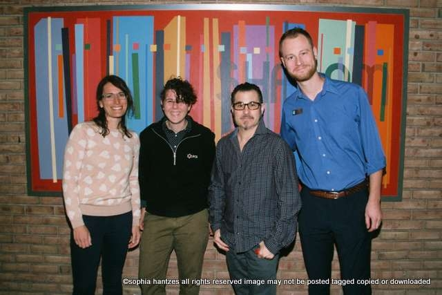 """Gender Reel Film Festival 2019 and 2019 Jewish Twin Cities Film Festival Co-Present:  """"A Family in Transition"""" Pictured: Robyn Stoller Awend, Twin Cities Jewish Cultural Arts Director, Jayce Koester,  J-Pride Program Coordinator,  Joe Ippolito, Gender Reel's Founder and Executive Director,  Jonathan Gershberg, Twin Cities Jewish Cultural Arts Coordinator"""