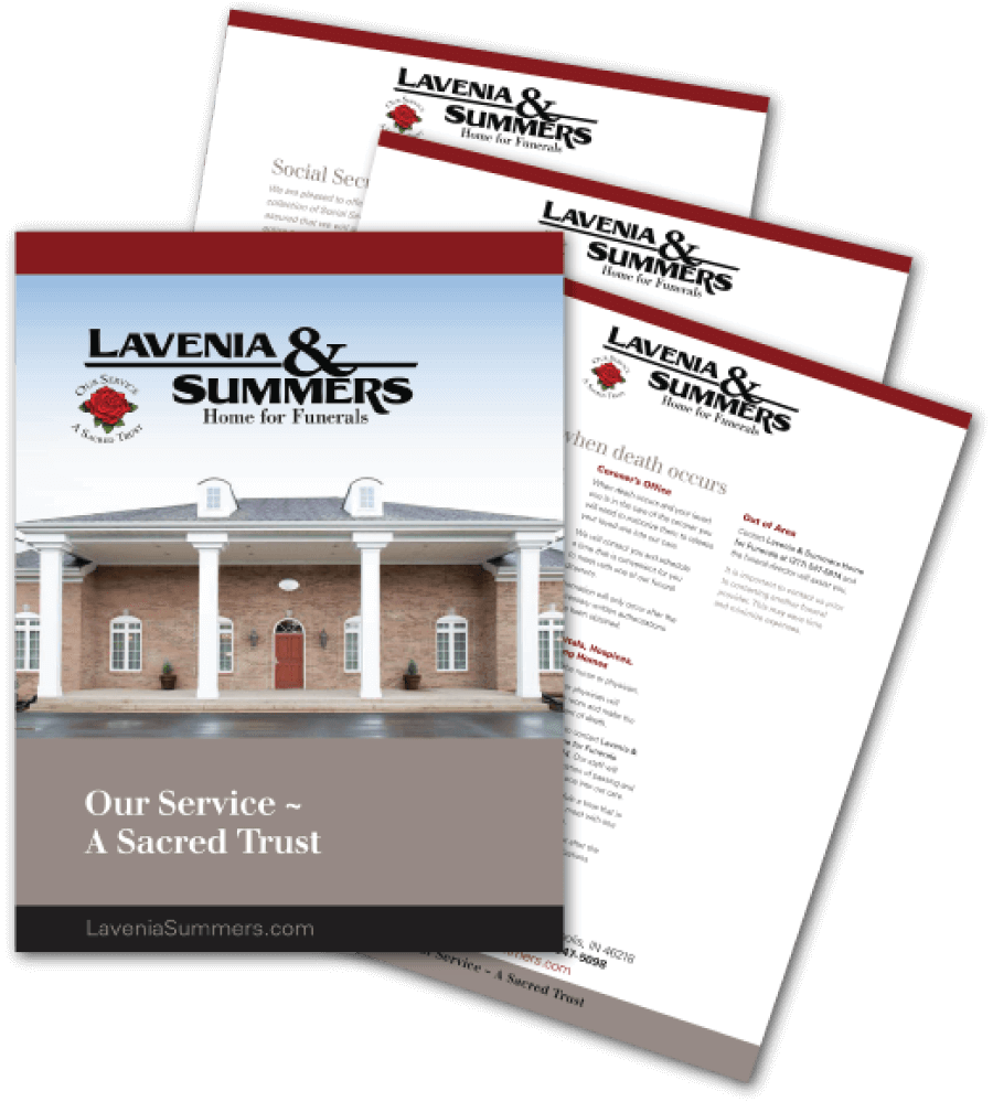 Request a Funeral Planning Kit FREE from Lavenia & Summers