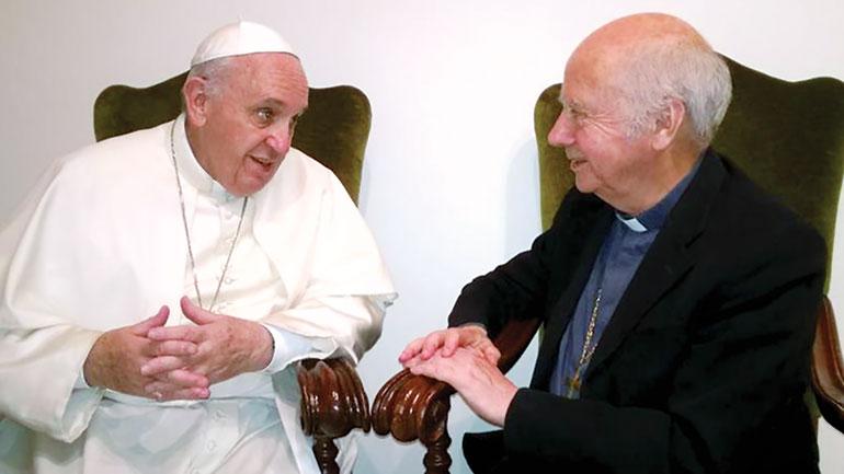 Mgr Jacques Gaillot et Pape François