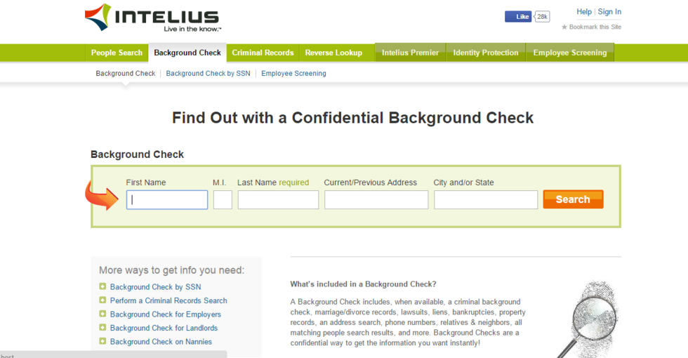 Running a background check