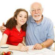 Grandpa and college student