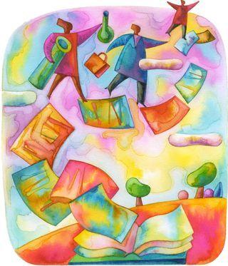 Colorful cartoon