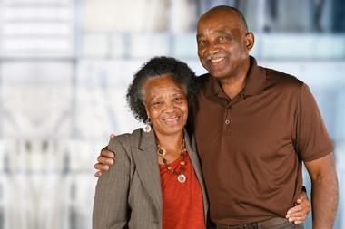 Senior couple  portability