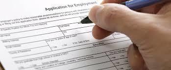 Employment application criminal history