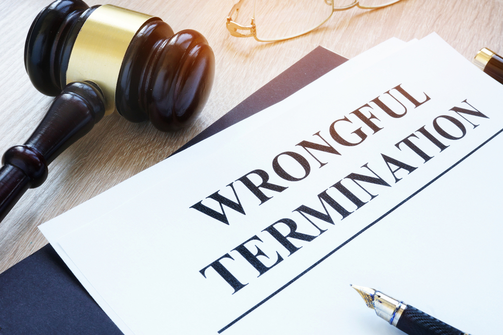 Explanation of wrongful termination