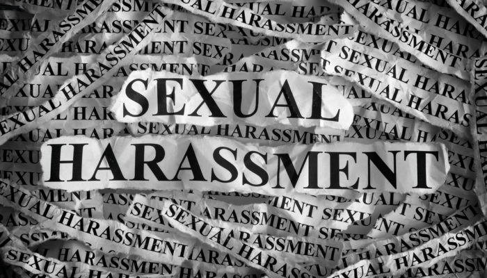 Sexual harassment word art 700x400