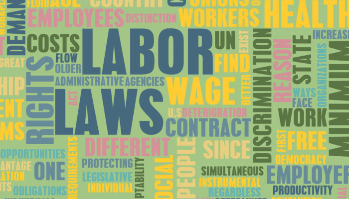 Labor laws word cluster 700x400