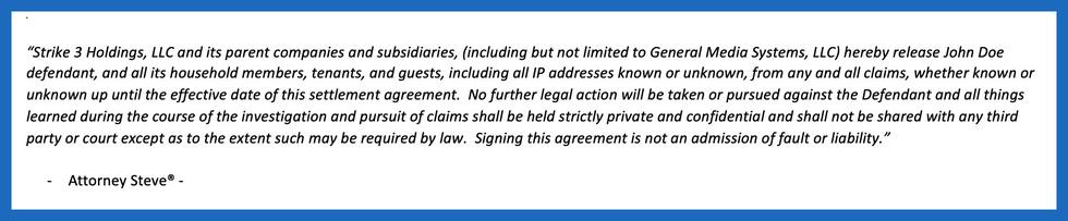 Strike 3 settlement terms