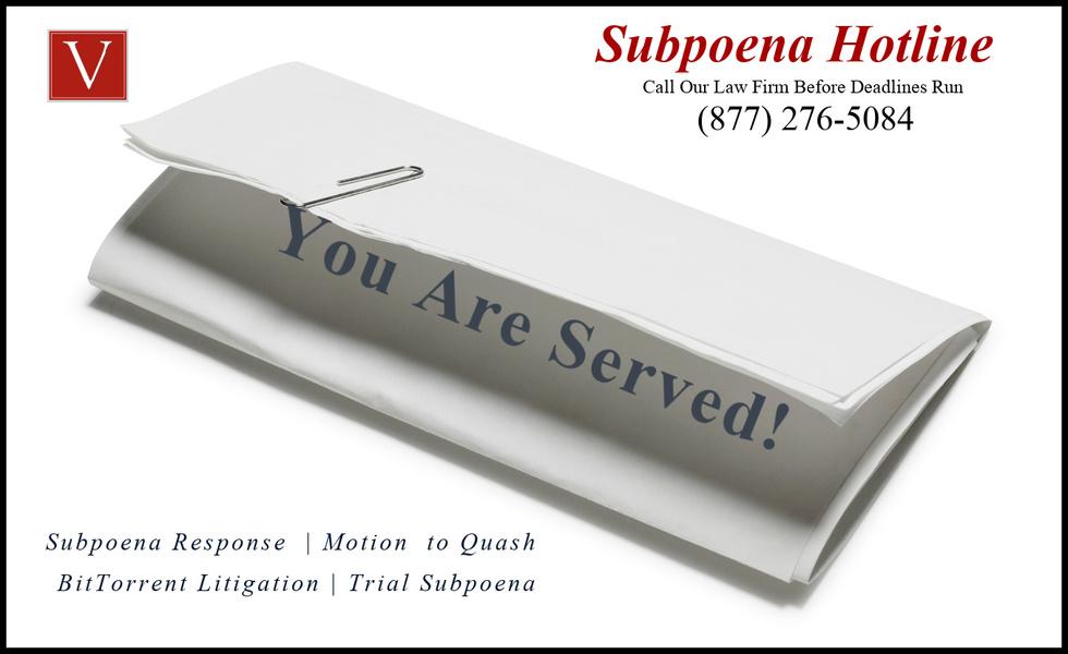 Subpoena response Santa Clara county