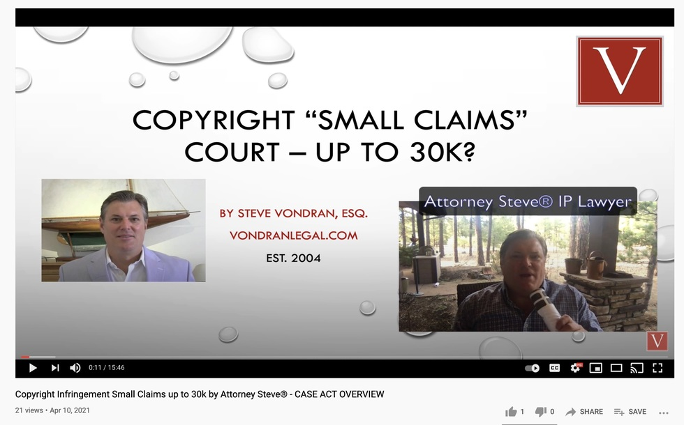 copyright small claims lawyer